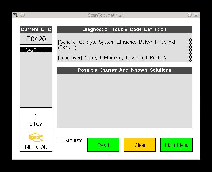 Scantool - OBDII Car Diagnostic Software for Linux | samhobbs co uk